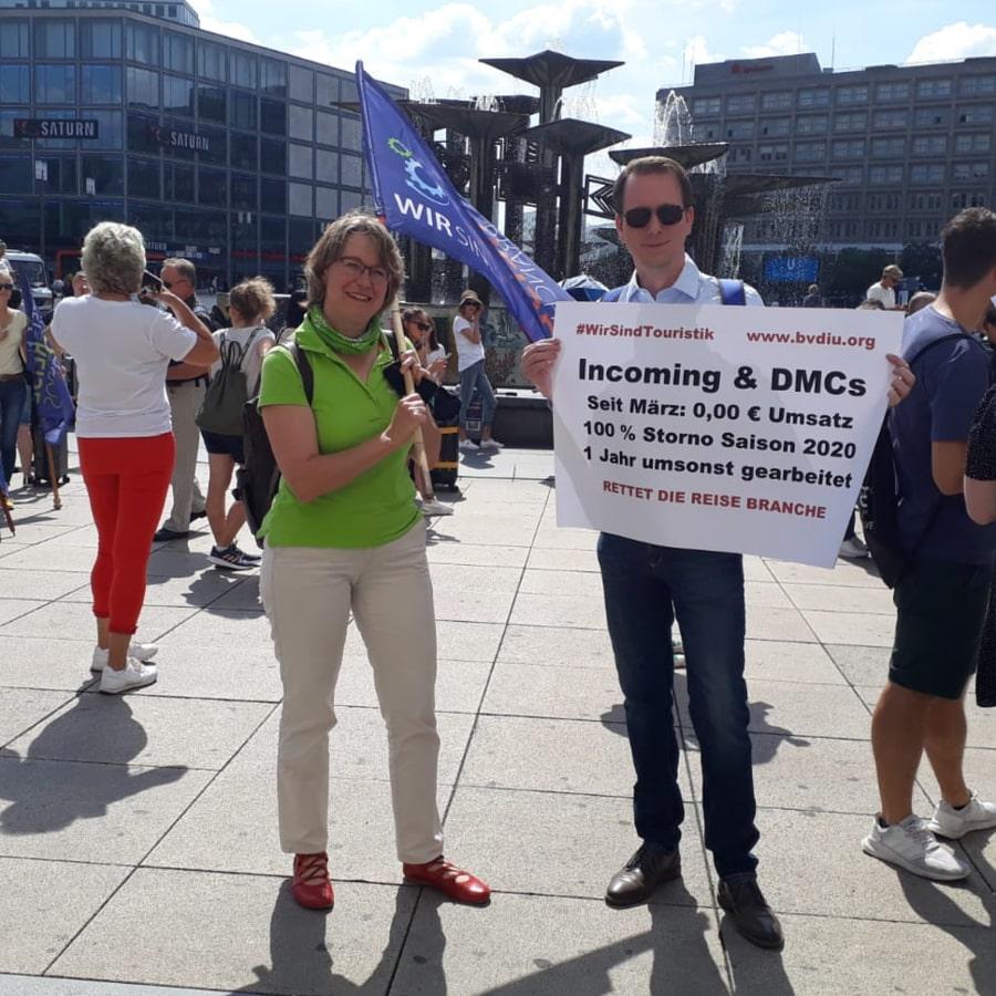 17.06.2020 | AugustusTours demonstriert für Rettung der Reisebranche