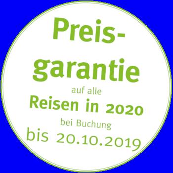 09.08.2019 | Preisgarantie auf alle Aktivreisen bis 20.10.2019