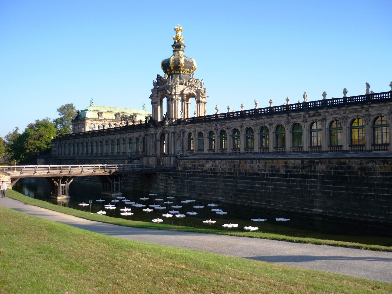 Dresden Zwinger with entrance to Semper Building