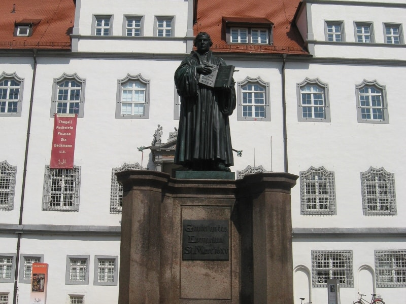 Martin Luther Statue in Lutherstadt Wittenberg
