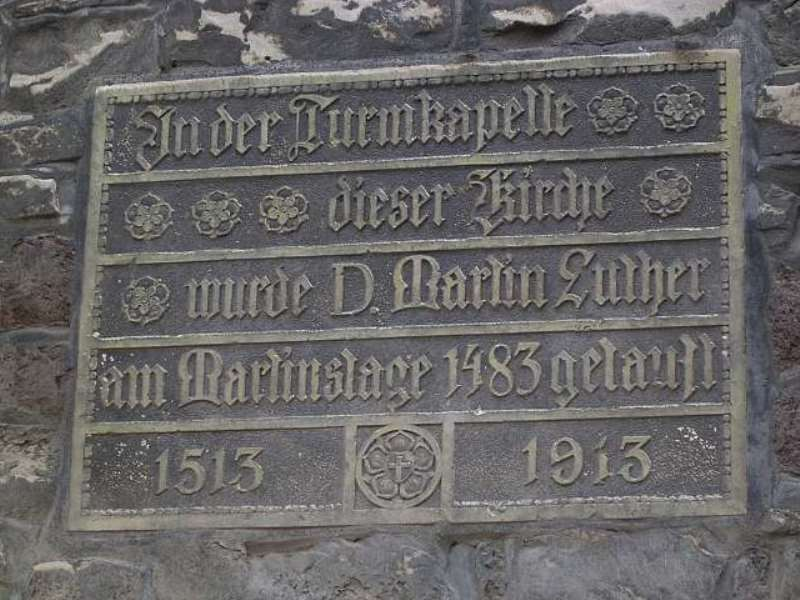 luther und reformation taufkirche luthers