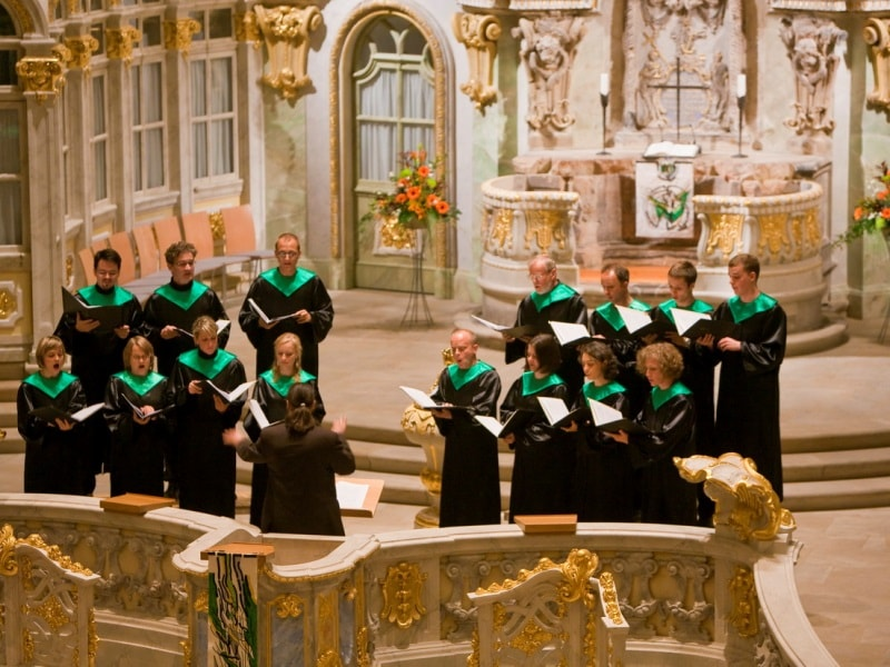 Perfomance in the Church of Our Lady, Dresden