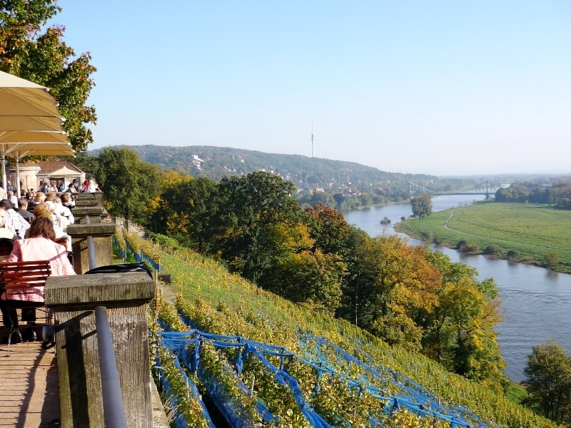 View from Lingner Palace over the Elbe