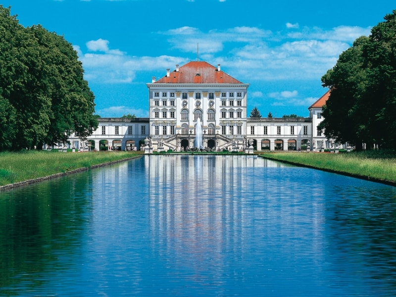 View on Nymphenburg Palace from the water
