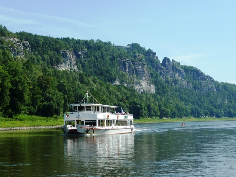 River cruise along the Elbe River