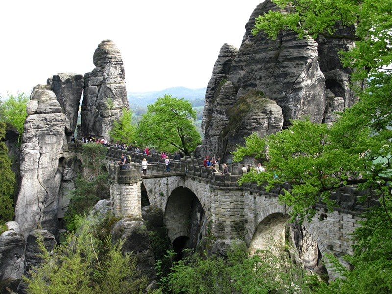 Bastei Stone Bridge in Saxon Switzerland