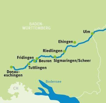 Donauradweg Ulm Passau Karte.Donaueschingen Ulm Donau Radweg Radreisen Radtouren