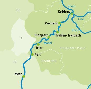 Mosel Karte Mit Allen Orten.Metz Koblenz Mosel Radweg Radreisen Radtouren Augustustours