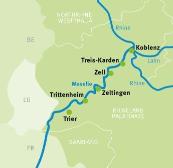Trier Koblenz Moselle River Cycle Path Cycling Holidays
