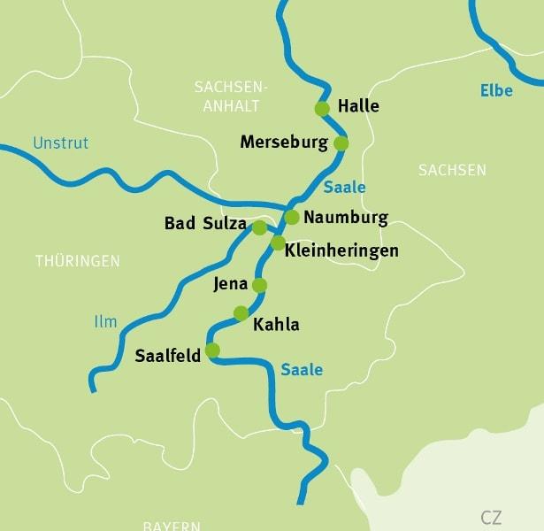 Saale Radweg Karte.Saalfeld Halle Geniessertour Saaleradweg Radreisen