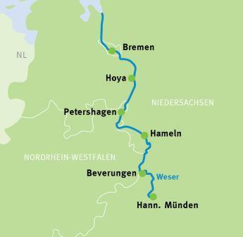 Weser Radweg Karte Pdf.Hann Münden Bremen Sportive Fahrradreise Weser Radweg