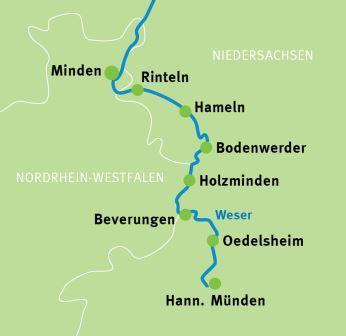 Weser Radweg Karte.Genießerradreise Hann Münden Minden Weser Radweg Radreisen