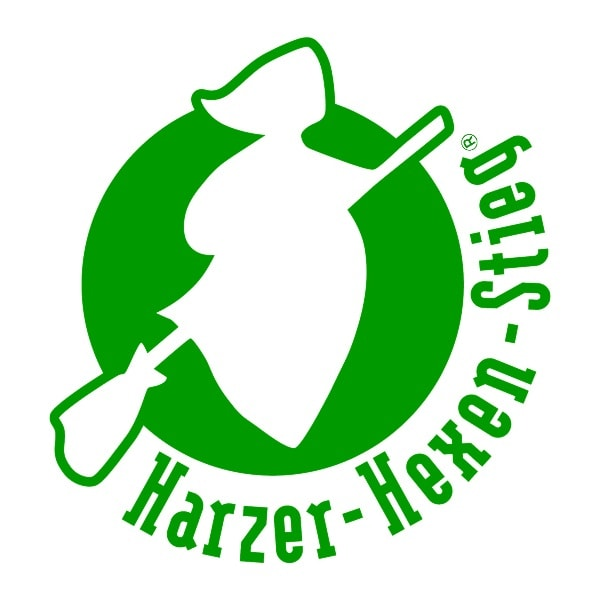 Logo of the most famous hiking trail in the Harz Mountains - the Harz Witches Trail