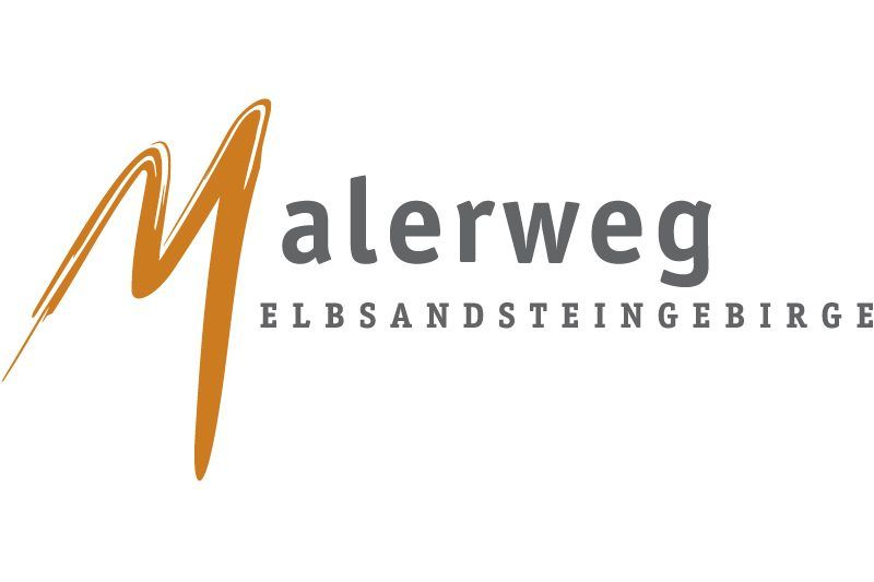 Logo of the most famous hiking trail in Saxon Switzerland - the Elbe Sandstone Mountains Malerweg Trail